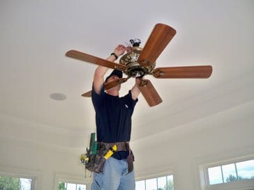 Ceiling Fan Installation Reliant Naperville Electrician